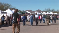 WorldClips-Tubac Fair People-ws-pan Stock Footage