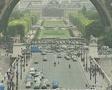 Busy road under Eiffel Tower SD Footage