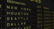 Stock Video Footage of US Domestic Airport Timetable All Flights Cancelled 03