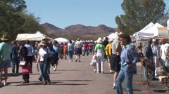 WorldClips-Tubac Fair Street-zoom-2 Stock Footage