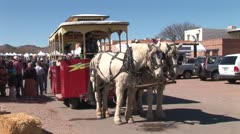 WorldClips-Tubac Horse Carriage Leaves Stock Footage