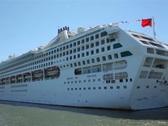Cruise Ship 01 NTSC Stock Footage