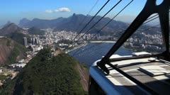 Rio De Janeiro shot from the sugar loaf mountain Stock Footage