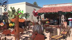 WorldClips-Tubac Sculpture Gallery-zooms Stock Footage