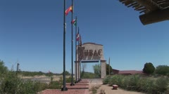 WorldClips-Tubac Sign-ws-zoom Stock Footage