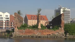 Ruins in Gdansk, Poland Stock Footage