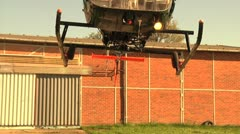 Helicopter - Slowmotion - Landing and rotors Stock Footage