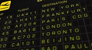 Stock Video Footage of International Airport Timetable All Flights On Time 02