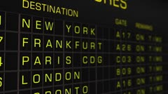 International Airport Timetable All Flights On Time 03 Stock Footage
