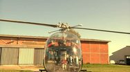 Helicopter - Slowmotion - Take off and fly over Stock Footage