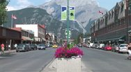 Stock Video Footage of WorldClips-Banff City Center-zoom
