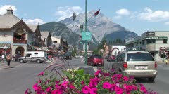 WorldClips-Banff City Intersection-ws - stock footage