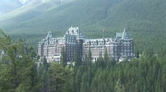 WorldClips-Banff Fairmont Hotel Stock Footage