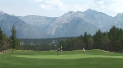 WorldClips-Banff Golfers-ws Stock Footage