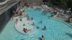 Stock Video Footage of WorldClips-Banff Hot Springs Pool-zooms
