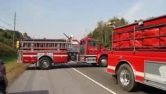 Firetrucks - stock footage
