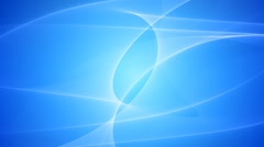 Elegant Blue Wavy Looped Background - stock footage