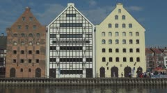 Architecture of Gdansk, Poland Stock Footage