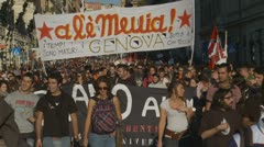 Stock Video Footage of Protest March 2 in Rome 15 Oct 2011