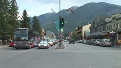 Stock Video Footage of WorldClips-Banff Traffic