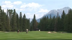 WorldClips-Banff Woman Golfer-ws Stock Footage