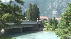 Stock Video Footage of WorldClips-Bow Bridge to Banff
