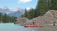 Stock Video Footage of WorldClips-Bow River Raft Launch-ws