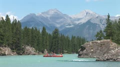 WorldClips-Bow River Raft-ws Stock Footage