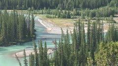 Stock Video Footage of WorldClips-Bow River Rafters-xws-zoom