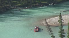 Stock Video Footage of WorldClips-Bow River Rafters-zoom