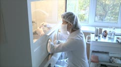 Nurse prepares the drug for chemotherapy 2 Stock Footage
