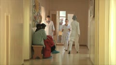 Corridor in the hospital Stock Footage