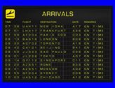 4K International Airport Timetable All Flights Get Cancelled Arrivals FULL PACK Stock Footage
