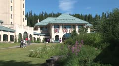 Stock Video Footage of WorldClips-Chateau Lake Louise Entrance