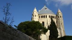 4K UHD Basilica Church of the Dormition, Jerusalem time lapse Stock Footage