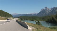 Stock Video Footage of WorldClips-Highway 1-Bow River-xws