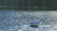 WorldClips-Johnson Lake Rafters-zoom Stock Footage