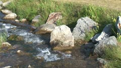 WorldClips-Johnson Lake Stream-cu Stock Footage
