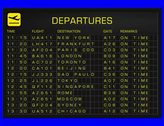 4K International Airport Timetable All Flights Get Cancelled Departure FULLPACK Stock Footage