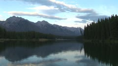 WorldClips-Johnson Lake Twilight-ws Stock Footage