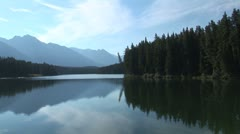 WorldClips-Johnson Lake-ws-pan Stock Footage