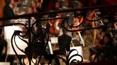 View on orchestra in theatre - timelapse Stock Footage