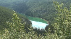 WorldClips-Kootenay Green Lake-ws-zoom Stock Footage