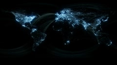 Glowing Network Lines Lighting Up World Map HD Stock Footage