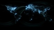 Stock Video Footage of Glowing Network Lines Lighting Up World Map HD