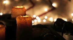 CandlesCamMoveLeftLights Stock Footage