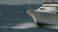 Stock Video Footage of power boats