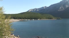 WorldClips-Lake Minnewanka Dam-ws Stock Footage