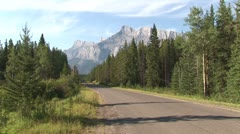 WorldClips-Lake Minnewanka Drive-Car Stock Footage