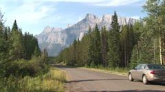 WorldClips-Lake Minnewanka Drive-xws Stock Footage